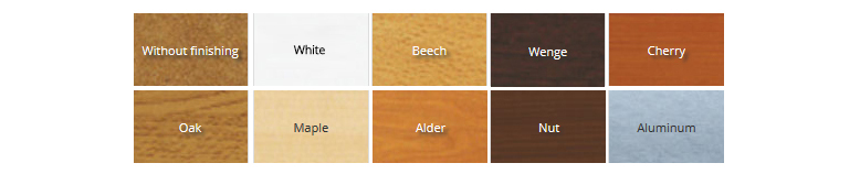 Types of finishes to ceiling panels
